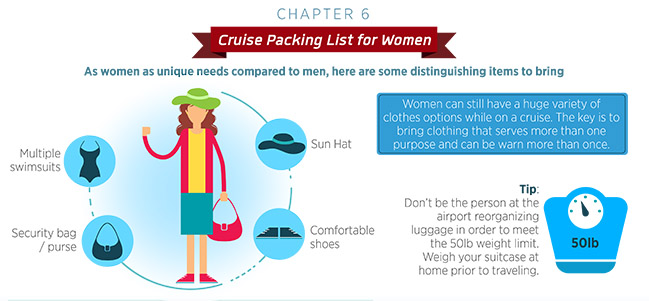 Cruise packing list for women