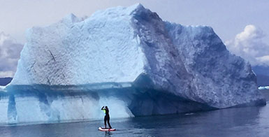 Paddleboarding excursion alaska cruise